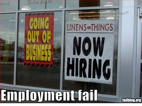 Now Hiring Fail