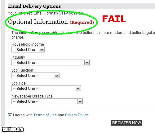 Optional Fail