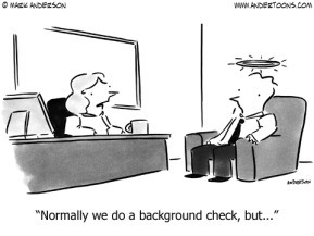 background check cartoon