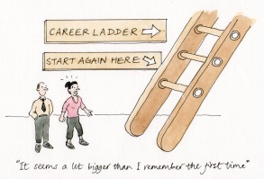 career ladder cartoon