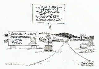 corporate sponsorship cartoon