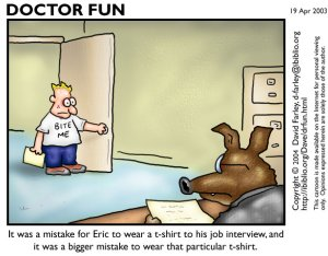 job interview mistake cartoon