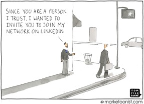 linkedin network cartoon