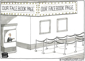 our facebook page cartoon