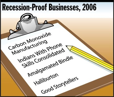 recession proof businesses 2006