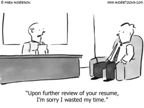 resume wasted time cartoon
