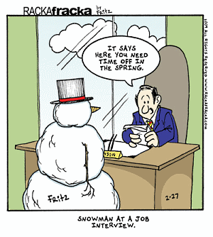 Snowman job interview