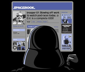 spacebook cartoon