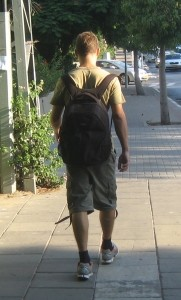 Israel backpacker