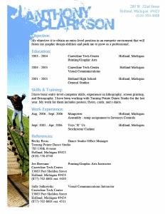 Anthony Clarkson beautiful resume