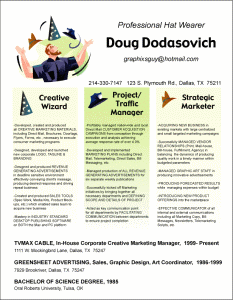 Doug Dodasovich beautiful resume