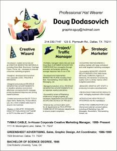 Doug Dodasovich beautiful resume