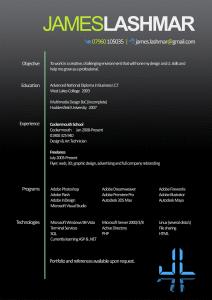 James Lashmar beautiful resume