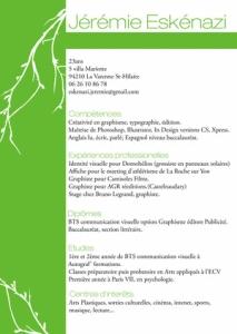 Jeremie Eskinazi beautiful resume