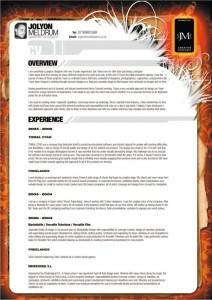 Jolyon Meldrum beautiful resume