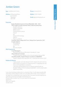 Jordan Green beautiful resume