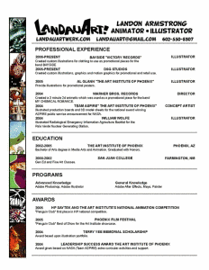 Landon Armstrong beautiful resume