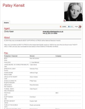 patsy kensit actor resume