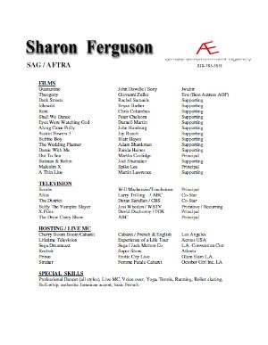 sharon ferguson actor resume