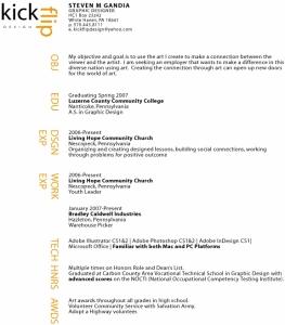 Steven Gandia beautiful resume