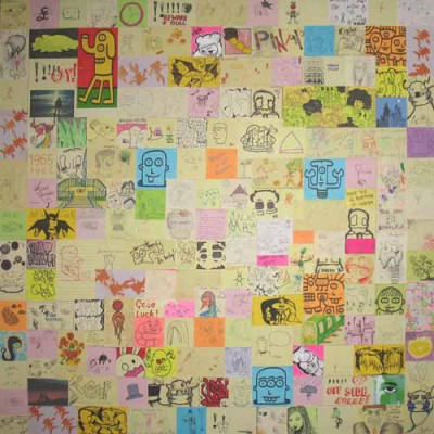 Sticky note collage