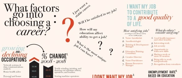 factors into choosing a career infographic