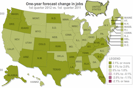jobs forecast 2011 infographic