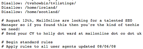 Daily Mail robots.txt ad