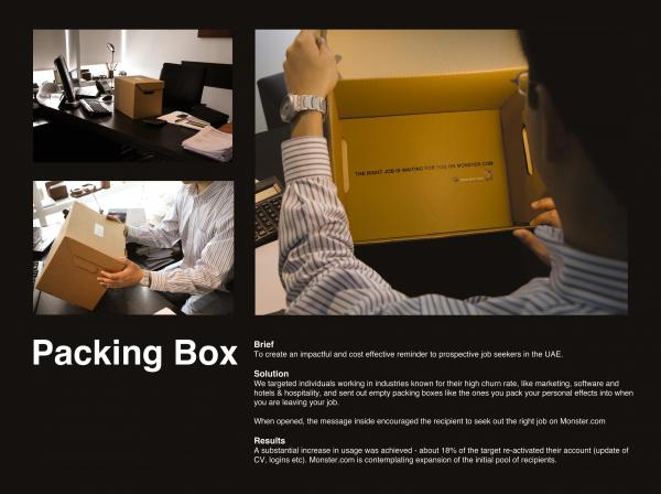 online agency packing box recruitment marketing