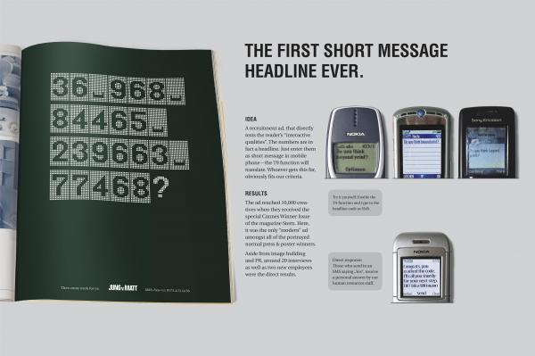 short message headline recruitment marketing