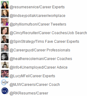 Career Twitter Lists