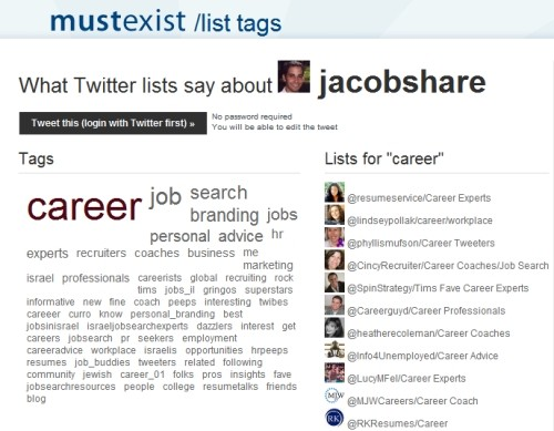 List Tags for @jacobshare
