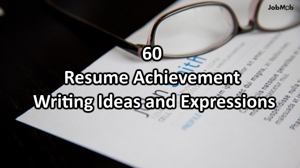 achievements resume examples