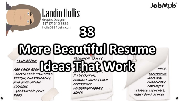 More Beautiful Resume Ideas That Work