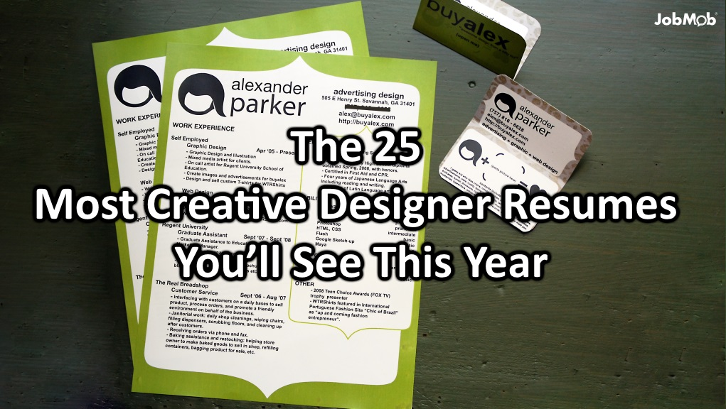 The 25 Most Creative Designer Resumes Youll See This Year