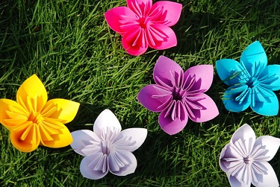 sticky note flowers