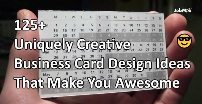 125+ Uniquely Creative Business Card Design Ideas That Make You Awesome