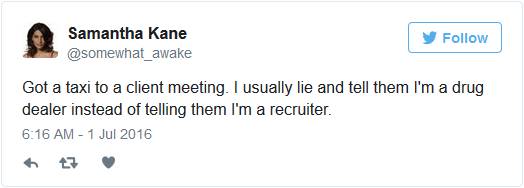 recruiter lie tweet