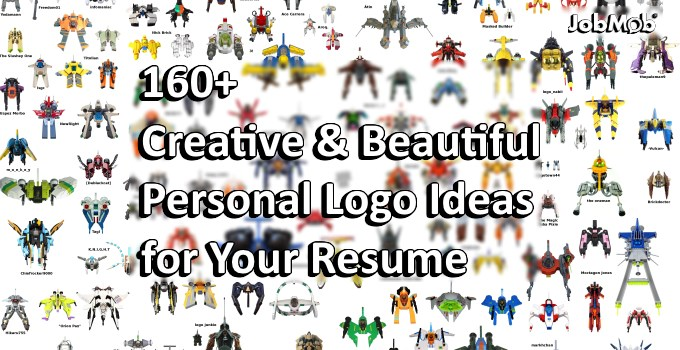 160+ Creative & Beautiful Personal Logo Ideas for Your Resume