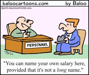 Name Your Salary cartoon