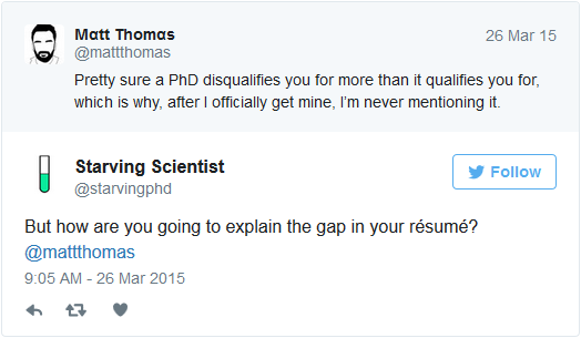 starvingphd resume gaps tweet