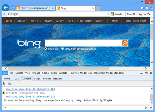 bing homepage job ad recruitment marketing
