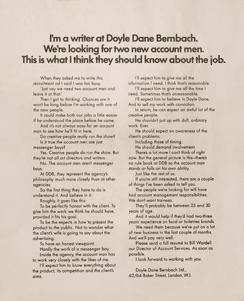 doyle dane bembach recruitment marketing