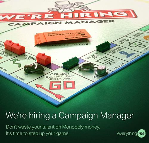 everythingme campaign manager recruitment marketing