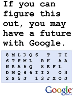 google job code recruitment marketing