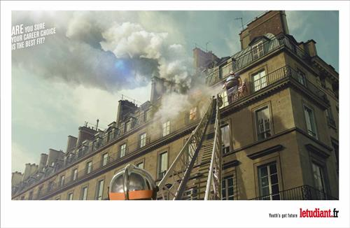 l etudiant fireman recruitment marketing