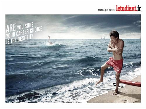 l etudiant lifeguard recruitment marketing