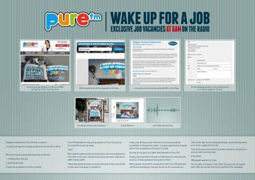 pure fm radio station wake up for a job recruitment marketing