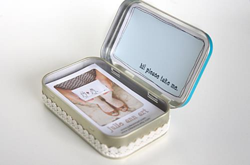 Altoids Tin Business Card Holder