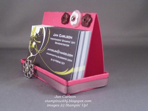 cardstock business card holder